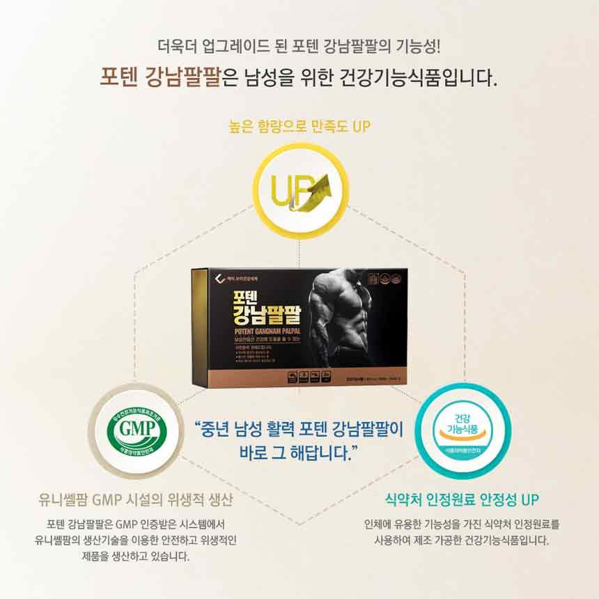 Công dụng của sản phẩm thần dược của đàn ông Hàn Quốc