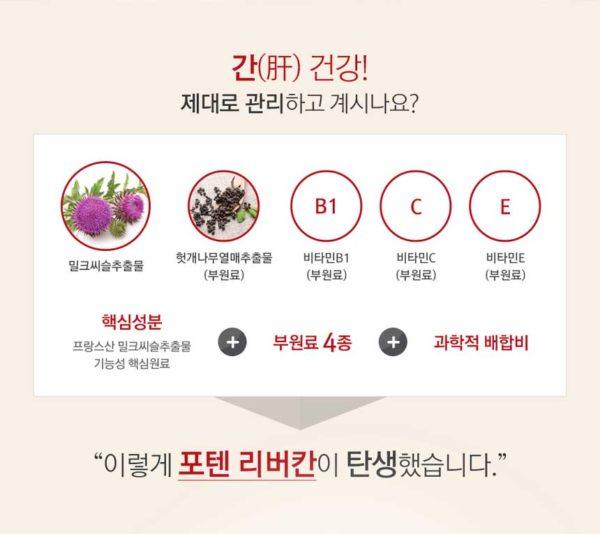 Thành phần Bổ gan Potent Liverkhan Hàn Quốc
