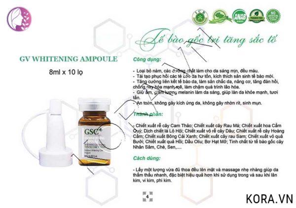 Cách dùng tế bào gốc trắng da trị tăng sắc tố GSC+ GV Whitening Ampoule.jpg