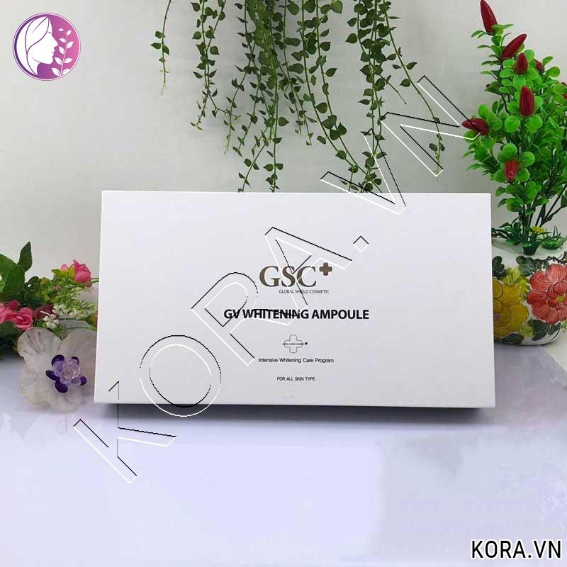 Công dụng tế bào gốc trắng da trị tăng sắc tố GSC+ GV Whitening Ampoule.jpg