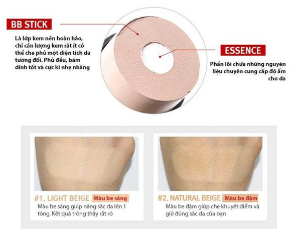 Review Kem nền V10 Glow BB Stick Skinaz