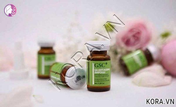 Thành phần tế bào gốc trị sẹo GSC Ga Anti Ageing Ampoule