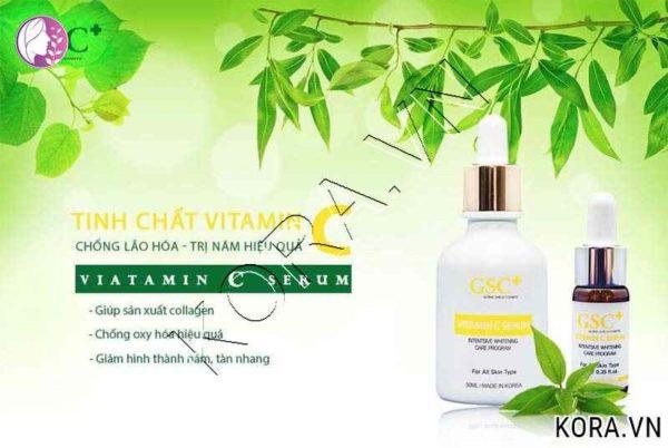 Công dụng tinh chất Vitamin C Serum trị thâm GSC 10ml