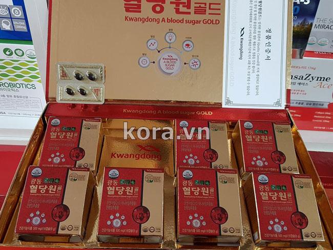 Cách sử dụng Kwangdong A blood sugar GOLD 혈당원 골드 Hàn Quốc