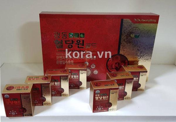 Thành phần và công dụng Kwangdong A blood sugar GOLD 혈당원 골드 Hàn Quốc