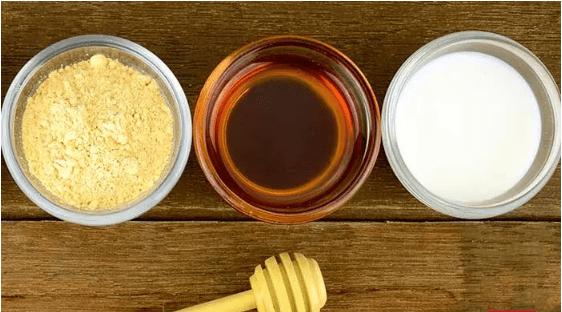 bột mì mật ong sữa làm đẹp môi